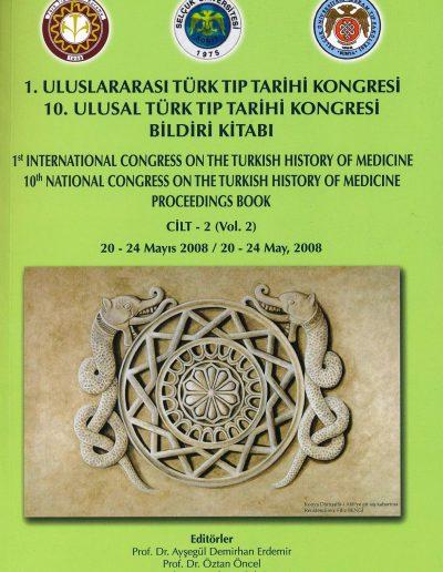 10. Ulusal Türk Tıp Tarihi Kongresi (Konya, 20-24 Mayıs 2008)