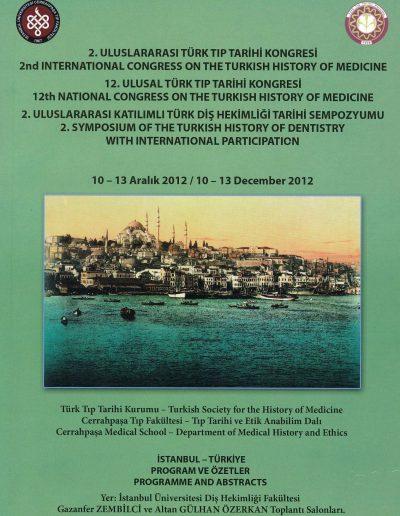 12. Ulusal Türk Tıp Tarihi Kongresi (İstanbul, 10-13 Aralık 2012)