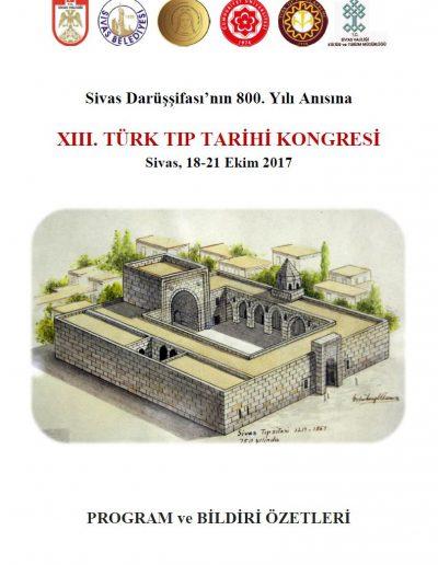 13. Türk Tıp Tarihi Kongresi (Sivas, 18-21 0-13 Aralık 2012)