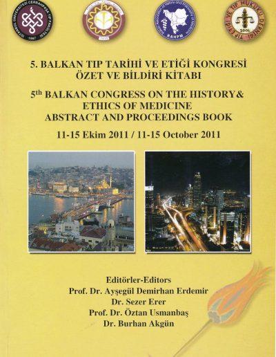 5. Balkan Tıp Tarihi ve Etiği Kongresi (İstanbul, 11-15 Ekim 2011)