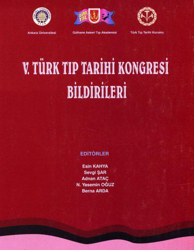 5. Türk Tıp Tarihi Kongresi (Ankara, 16-18 Mart 1998)