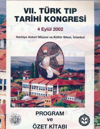 7. Türk Tıp Tarihi Kongresi (İstanbul, 4 Eylül 2002)