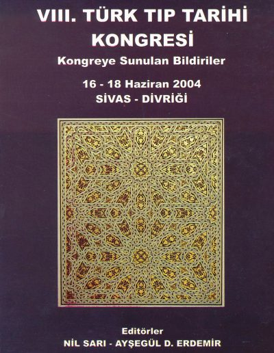 8. Türk Tıp Tarihi Kongresi (Sivas-Divriği, 16-18 Haziran 2004)
