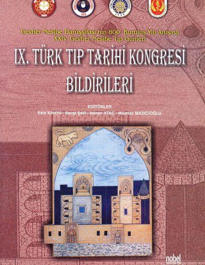 9. Türk Tıp Tarihi Kongresi (Kayseri, 24-27 Mayıs 2006)